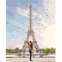 Романтика Парижа Раскраска картина по номерам на холсте PK51053