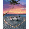 Романтический ужин на песчаном пляже Раскраска картина по номерам на холсте PK51028