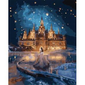 Принцесса у сказочного замка Раскраска картина по номерам на холсте PK51022