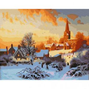 Зима в Нидерландах Раскраска картина по номерам на холсте