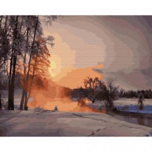 Декабрьский вечер Раскраска картина по номерам на холсте