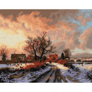 Приход зимы Раскраска картина по номерам на холсте