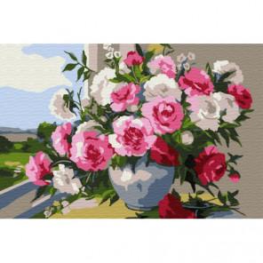 Оттенки роз Раскраска картина по номерам на холсте