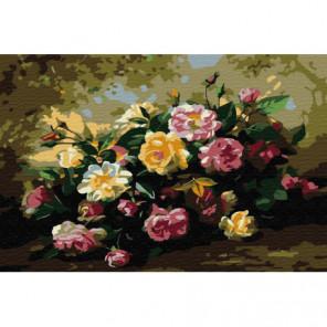 Дикие розы Раскраска картина по номерам на холсте