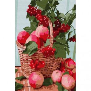 Яблоки Раскраска картина по номерам на холсте