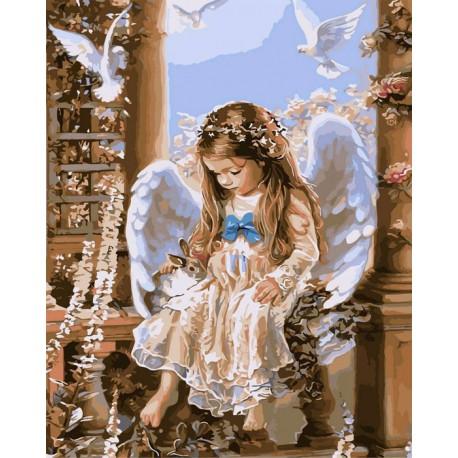 Нежность и любовь Раскраска (картина) по номерам акриловыми красками на холсте Iteso