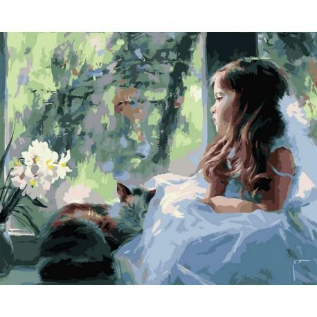 Охраняя сон Раскраска (картина) по номерам акриловыми красками на холсте Iteso