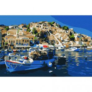 Город на море Раскраска картина по номерам на холсте