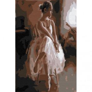 Сидящая балерина Раскраска картина по номерам на холсте