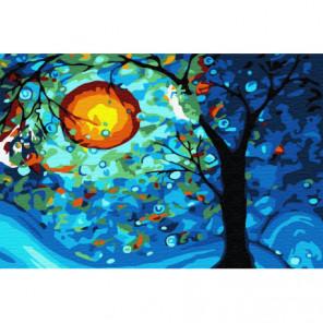 Отражение луны Раскраска картина по номерам на холсте