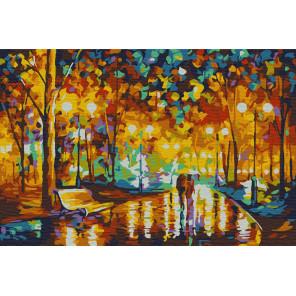 Огни осени Раскраска картина по номерам на холсте