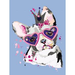 Сладкий щенок Раскраска картина по номерам на холсте ME1115