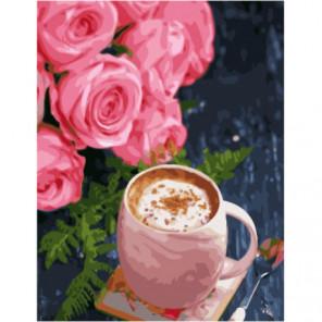 Кофе с корицей Раскраска картина по номерам на холсте