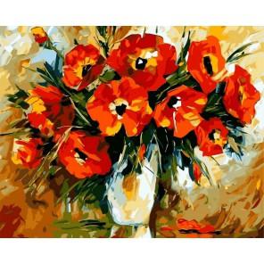 Магия цветов Раскраска (картина) по номерам на холсте Iteso