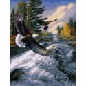 Полет над бушующей рекой Раскраска картина по номерам на холсте