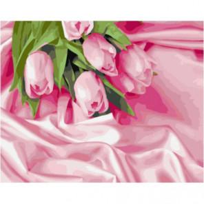 Утренние тюльпаны Раскраска картина по номерам на холсте
