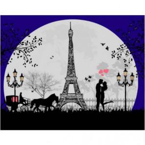 Парижские фонари Раскраска картина по номерам на холсте