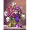 Весенний букет Раскраска картина по номерам на холсте