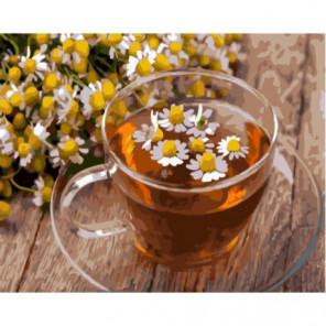 Ромашковый чай Раскраска картина по номерам на холсте