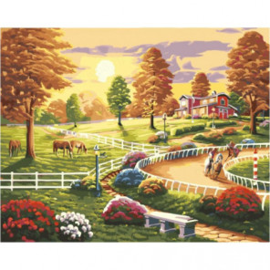 Веселое лето Раскраска картина по номерам на холсте