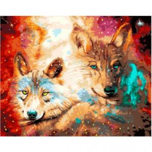 Звездные лисы Раскраска картина по номерам на холсте