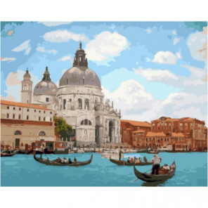 Солнечная Венеция Раскраска картина по номерам на холсте
