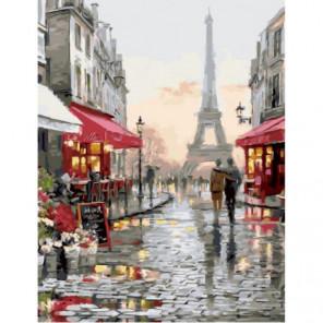 Париж после дождя Раскраска картина по номерам на холсте