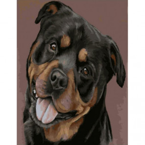 Счастливый пес Раскраска картина по номерам на холсте