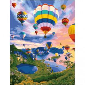 Полеты на воздушных шарах Раскраска картина по номерам на холсте