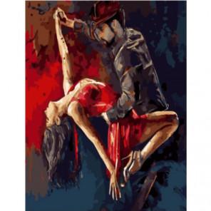 Эмоции танца Раскраска картина по номерам на холсте