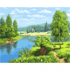 Пышное лето Раскраска картина по номерам на холсте