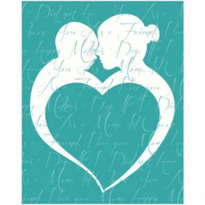 Силуэт с сердцем 100х125 Раскраска картина по номерам на холсте