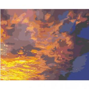 Вечернее небо 80х100 Раскраска картина по номерам на холсте