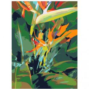 Цветочная абстракция 60х80 Раскраска картина по номерам на холсте