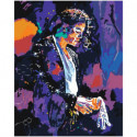 Michael Jackson Neon 80х100 Раскраска картина по номерам на холсте