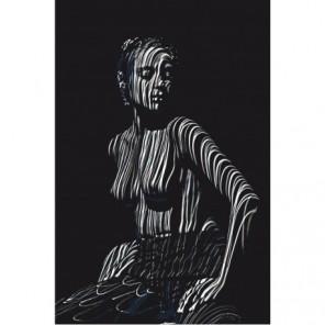 Обнаженная девушка в тени 80х120 Раскраска картина по номерам на холсте