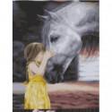 Девочка с лошадью Раскраска картина по номерам на холсте