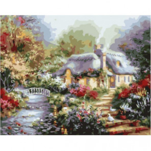 Родительский дом Раскраска картина по номерам на холсте