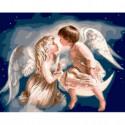 Небесные ангелы Раскраска картина по номерам на холсте