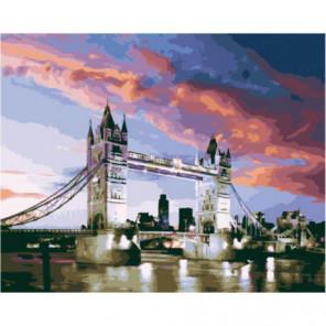 Вечерний лондонский мост Раскраска картина по номерам на холсте