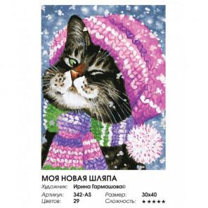 Сложность и количество цветов Моя новая шляпа Раскраска картина по номерам на холсте 342-AS