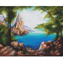 Морское побережье Алмазная вышивка мозаика Алмазное Хобби AH5400