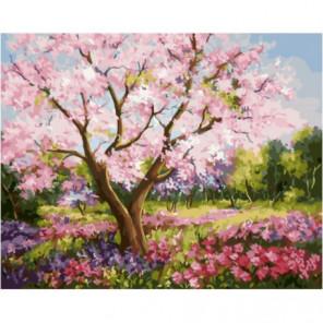 Весеннее цветение Раскраска картина по номерам на холсте