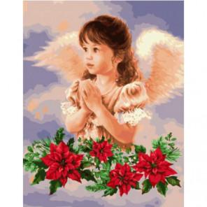 Молитва ангела Раскраска картина по номерам на холсте