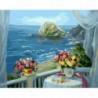 Веранда с видом на море Раскраска картина по номерам на холсте