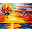 Полёт на закате Раскраска картина по номерам на холсте
