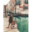 На венецианском причале Раскраска картина по номерам на холсте