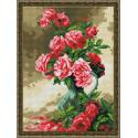 Драматичные розы Алмазная вышивка мозаика на подрамнике EQ10201