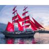 Корабль с алыми парусами Раскраска картина по номерам на холсте GX30349