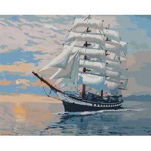 Раздувая паруса Раскраска картина по номерам на холсте G423
